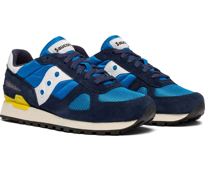 official photos e772b 56950 Saucony Shadow Original Vintage - Blue, Yellow and Navy