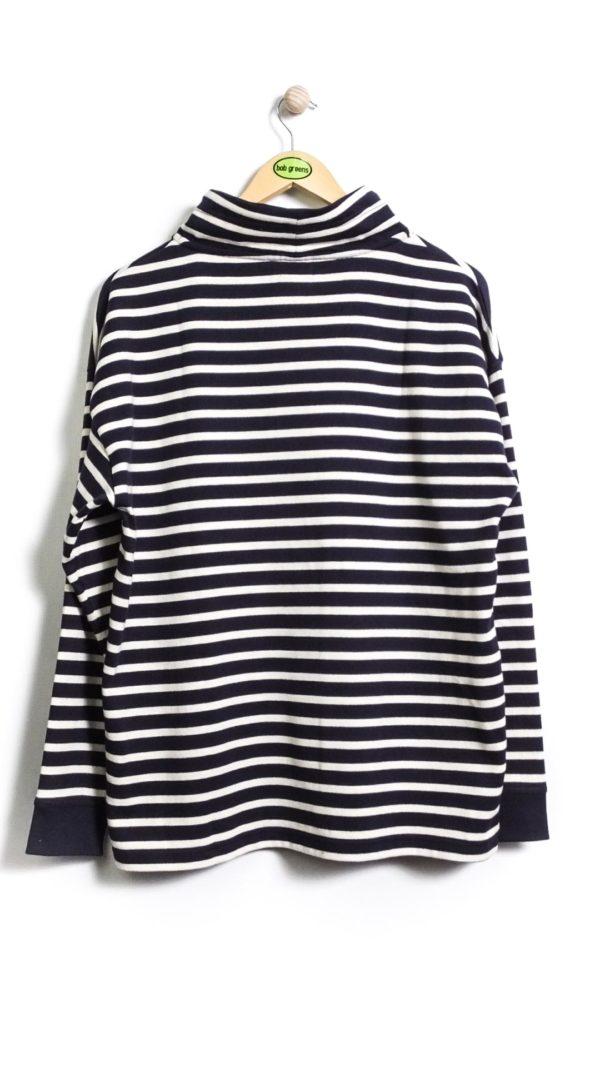 Armor-Lux Striped Sweatshirt Heritage - Navy/Nature [Back]