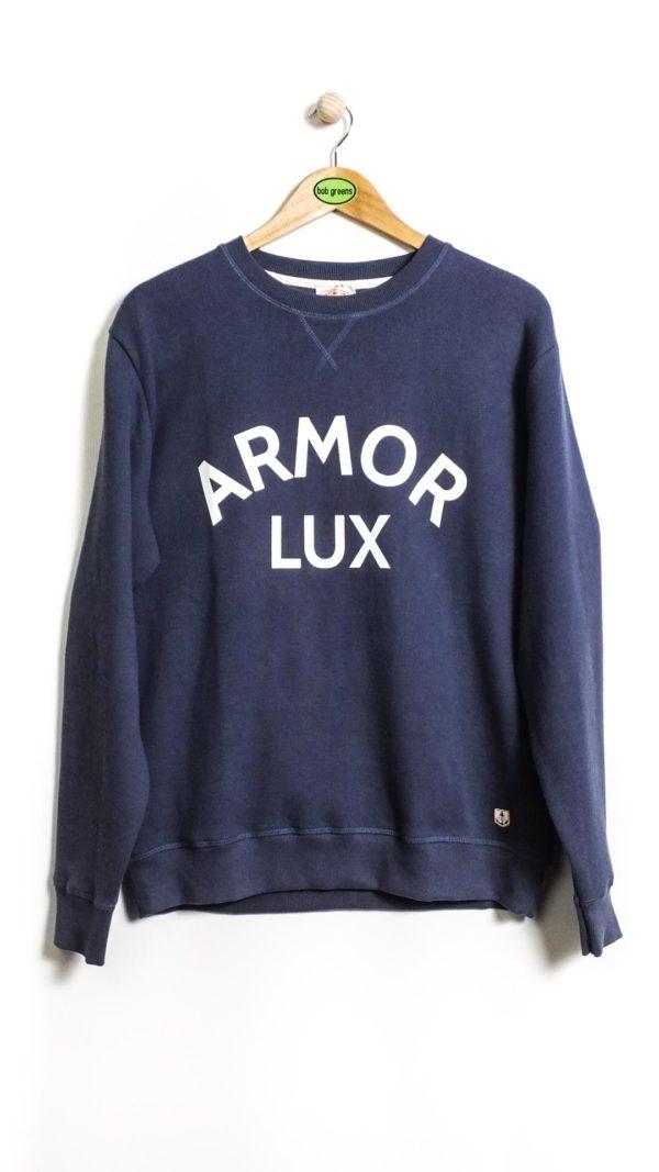 Armor-Lux Héritage Logo Sweatshirt - Navy Blue