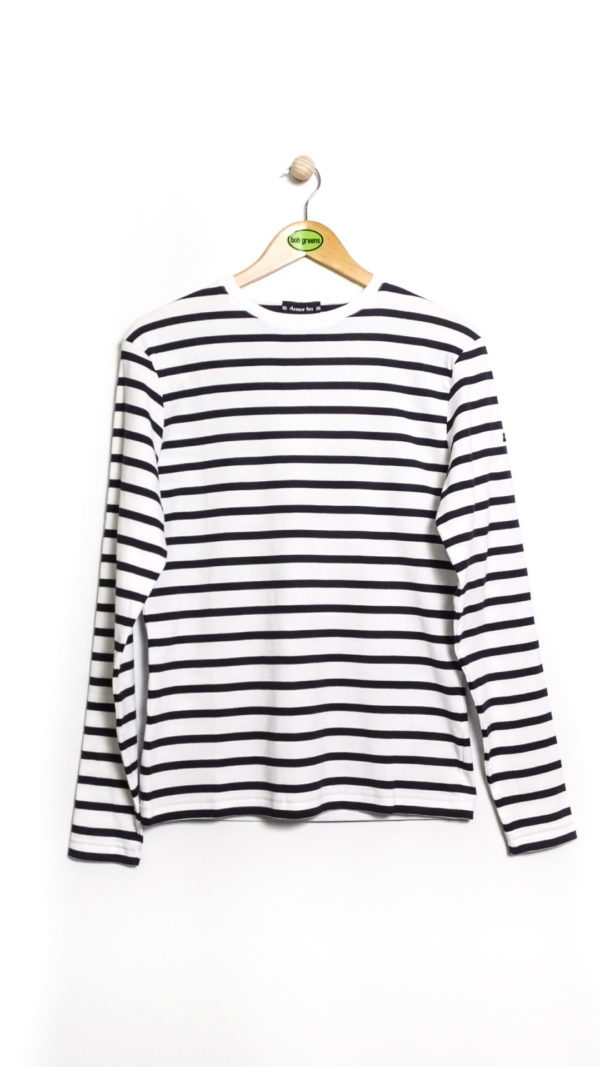 Armor Lux LS Striped Cotton Shirt - White Navy