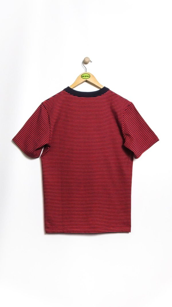 Armor-Lux MC Rayé Héritage T-Shirt - Navy/Red [Back]