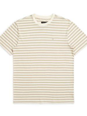 Brixton Hilt Mini Stripe Knit T-Shirt - Dove/Rock