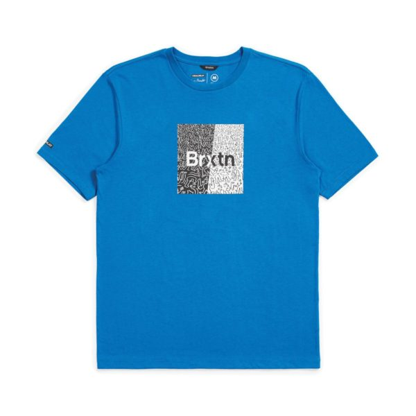 Brixton Crowd Art T-Shirt - Royal Blue