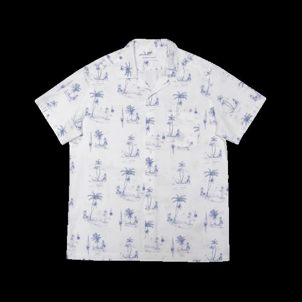 Edmmond Short Sleeve Shirt Toile - Printed White