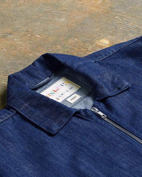 Uskees Zip Denim Shirt 3002