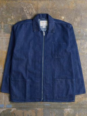 Uskees Zip Denim Shirt 3002