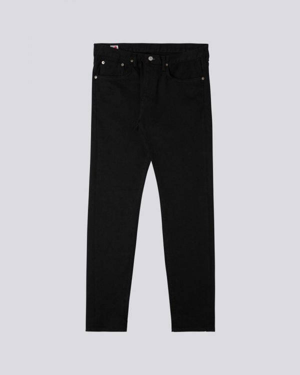 Edwin Slim Tapered Made In japan Black Stretch Selvage - Rinsed