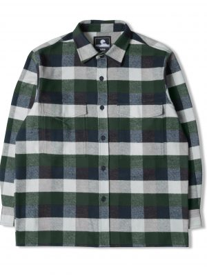 Edwin Big Shirt Greener Pastures Navy Garment Washed