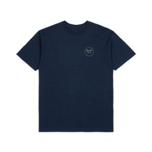 Brixton Wheeler Tee - Navy Orange