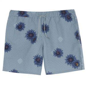 Farah Colbert Floral Print Swim Shorts - Green Mist