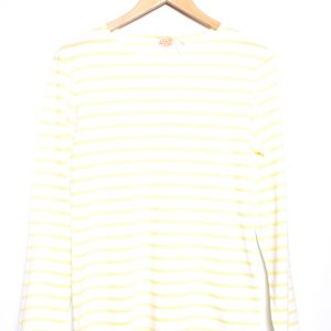 Armor-Lux Breton Stripe Long Sleeve Top - White/Yellow