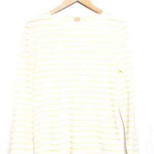 Armor-Lux Breton Stripe Long Sleeve Top - White/Yellow