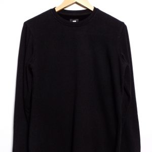 Edwin Terry TS LS Ribbed - Black