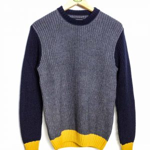 Edwin Line Sweater - Grey Navy Gold