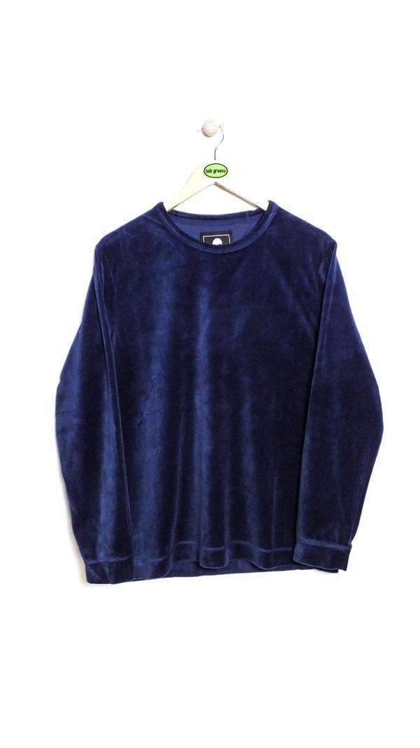Edwin Moze LS TS Plush Velvet Cotton - Dress Blue