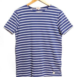 Armor-Lux Short Sleeve Marinière Hoëdic Stripe T-shirt - Ink/Nature