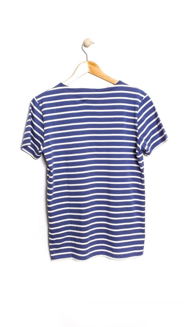 Armor-Lux Short Sleeve Marinière Hoëdic Stripe T-shirt - Ink/Nature