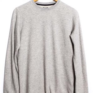 Edwin Terry TS LS Ribbed - Grey Marl