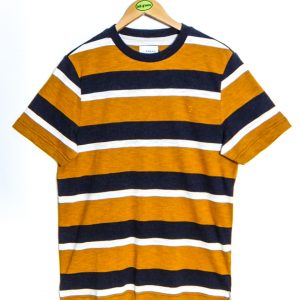Farah Celtic Striped T-Shirt - Gold Marl