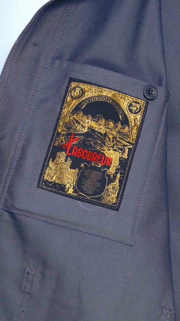 Le Laboureur Cotton Drill Work Jacket - Grey