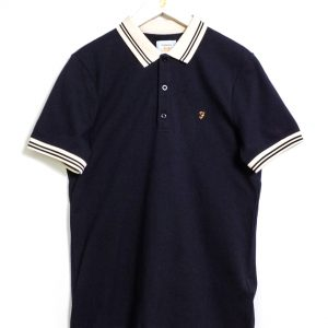 Farah Stanton SS Polo - True Navy