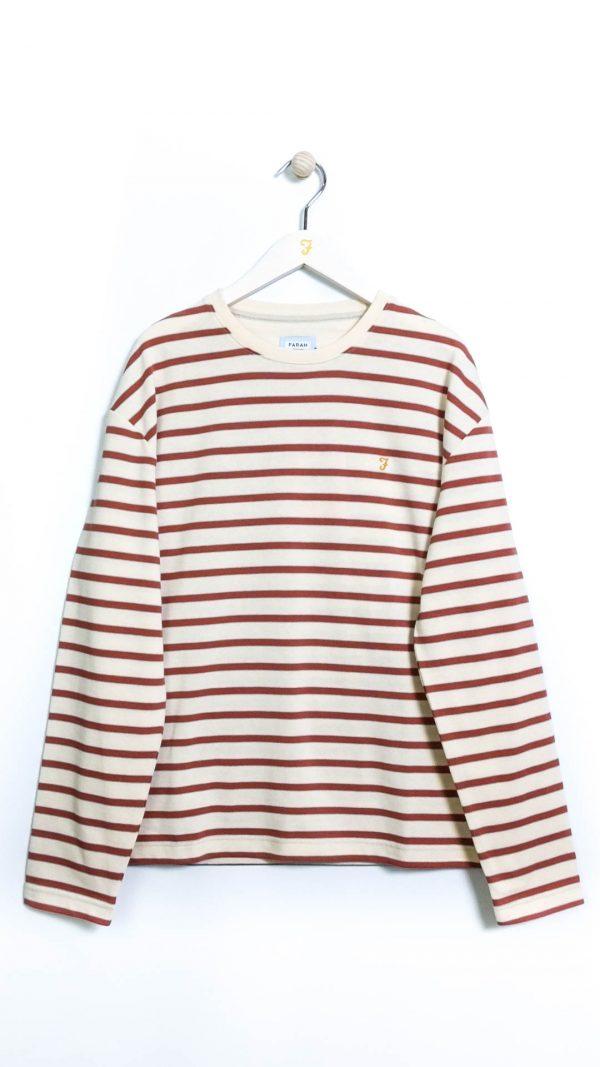 Farah Barrio LS Stripe T-Shirt - Cream