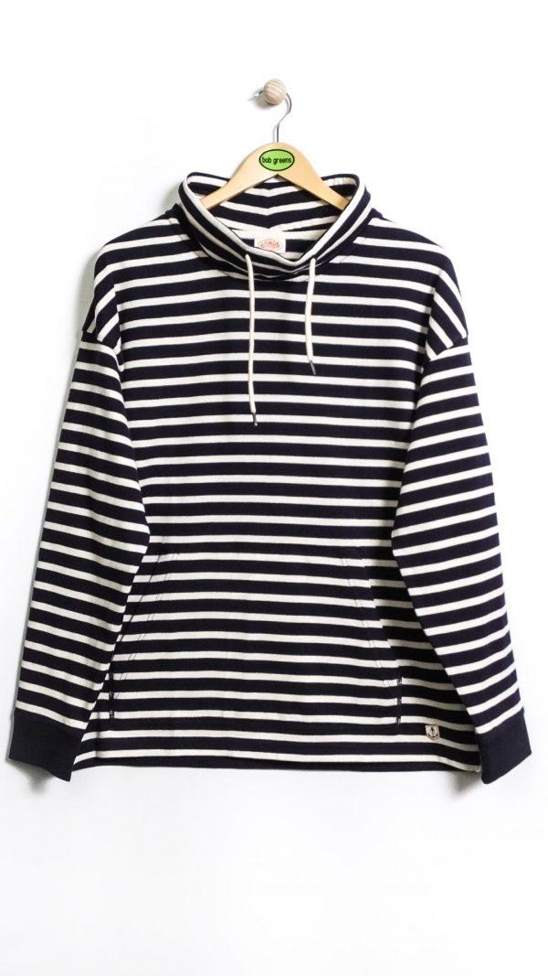 Armor-Lux Striped Sweatshirt Heritage - Navy/Nature