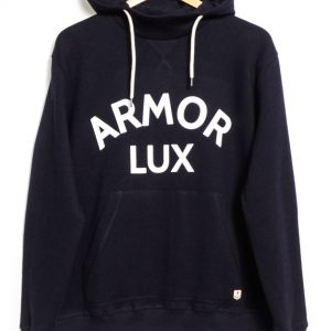 Armor Lux Hooded Graphic Sweatshirt - Navy