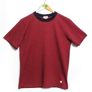 Armor-Lux MC Rayé Héritage T-Shirt - Navy/Red