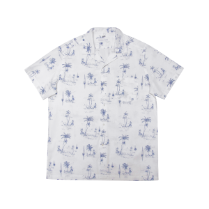 Edmmond Studios Short Sleeve Shirt Toile - Printed White
