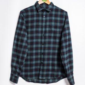 Edwin Don Shirt - Greener Pastures / Navy Garment Washed