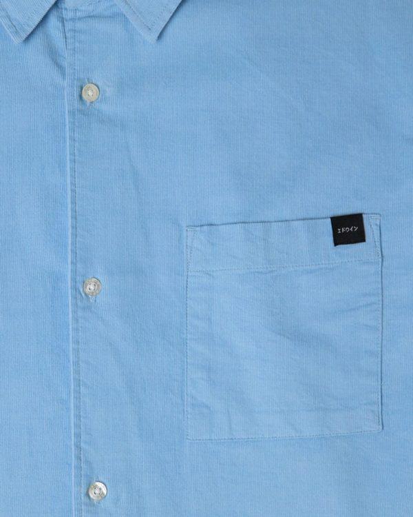 Edwin Minimal Babycord Shirt - Baby Blue