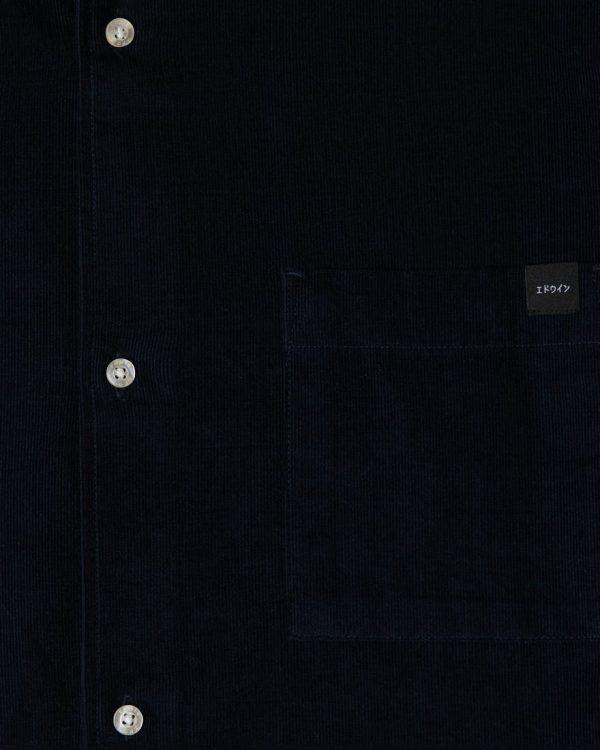 Edwin Minimal Babycord Shirt - Navy
