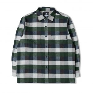 Edwin Big Shirt LS - greener Pastures / Navy Garment Washed