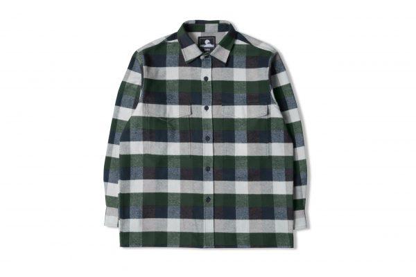 Edwin Big Shirt LS - greener Pastures / Navy Garment Washed