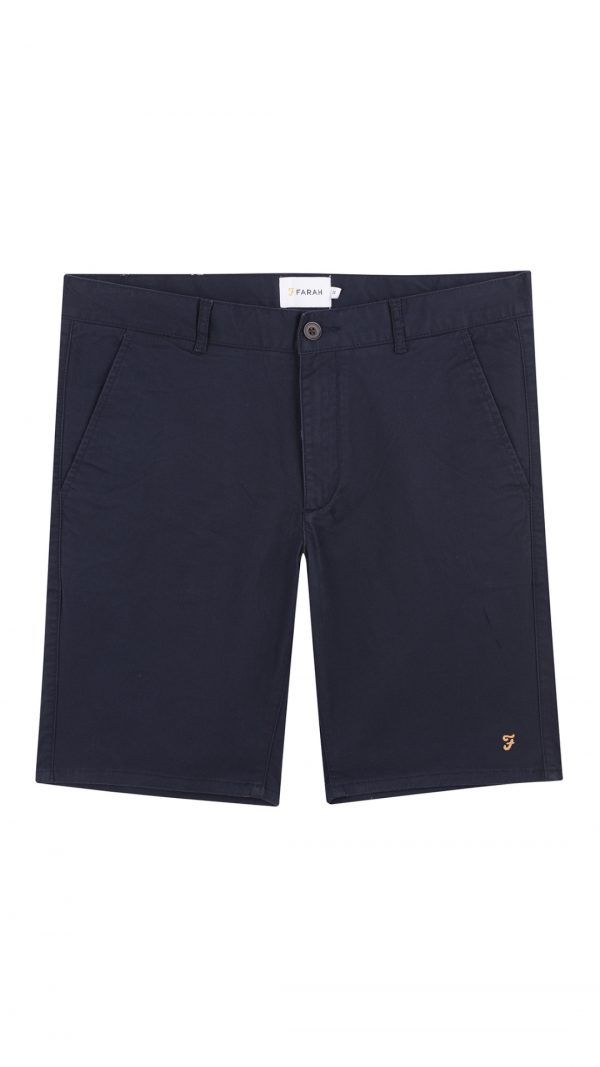 Farah Hawk Chino Shorts - True Navy