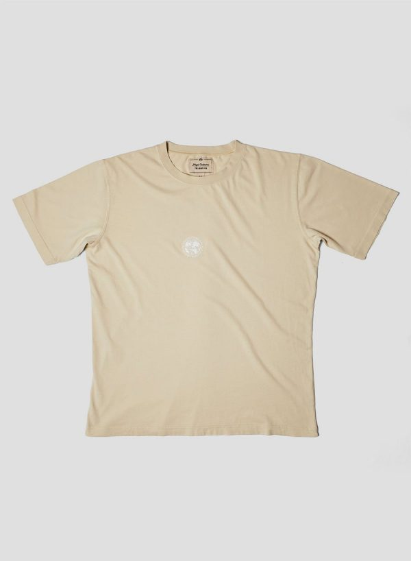 Nigel Cabourn Embroidered Logo Tee - Natural
