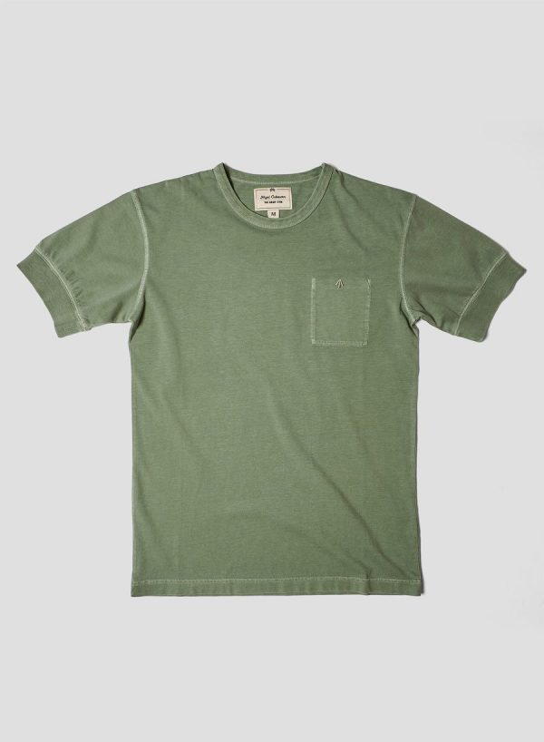 Nigel Cabourn Warm Up Military Tee - Washed Army