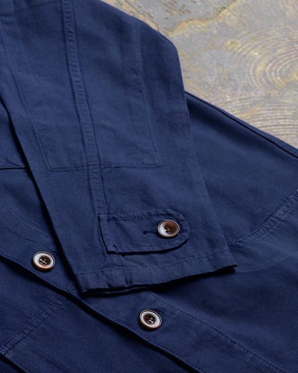 Uskees Buttoned Jacket - Navy