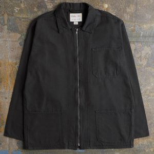 Uskees Zip Front Overshirt - Faded Black