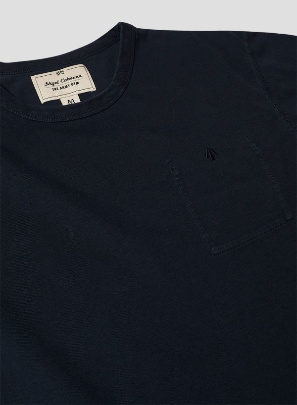 Nigel Cabourn Warm Up Military Tee - Black Navy
