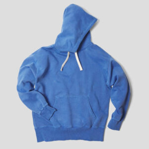 Nigel Cabourn Embroidered Arrow Hoodie - Washed Blue