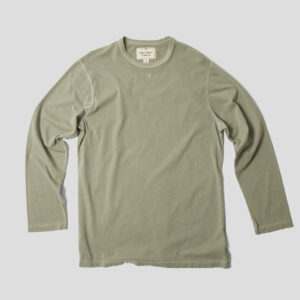 Nigel Cabourn Embroidered Arrow Long Sleeve Tee - Washed Army
